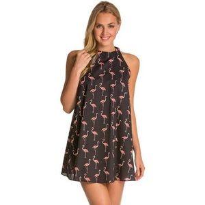 Kate spade flamingo cover up dress